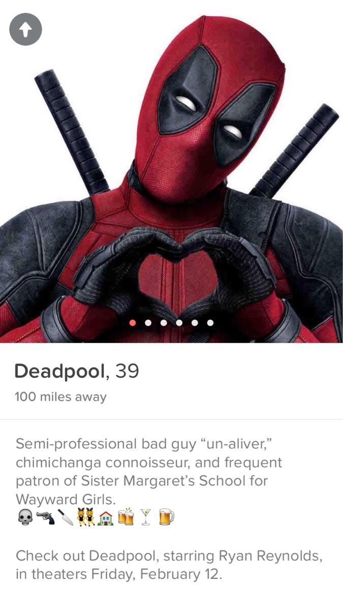 Deadpool no Tinder