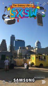 Geofilter da Samsung para o SXSW - Snapchat para Marcas