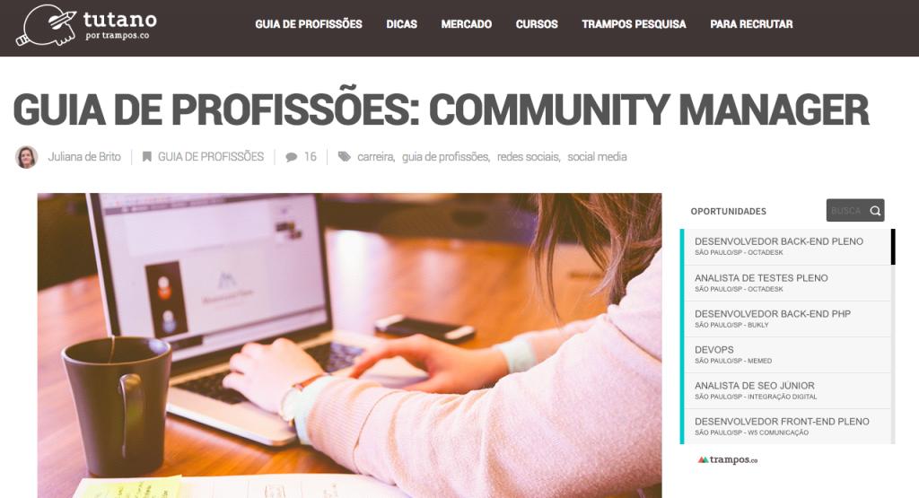 Guia de Profissões - Community Manager