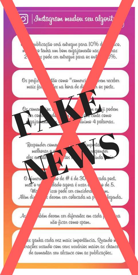 Mudança no algoritmo do Instagram? Fake News!